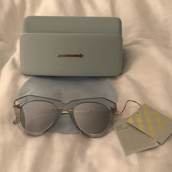 3621e18db09 NWT Karen Walker One Star Sunglasses w  Case